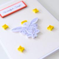 Kartka na Boże Narodzenie – aniołek