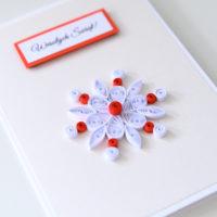Kartka na Boże Narodzenie – śnieżynka
