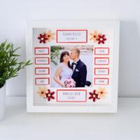 Podziękowania ślubne dla rodziców – czerwone