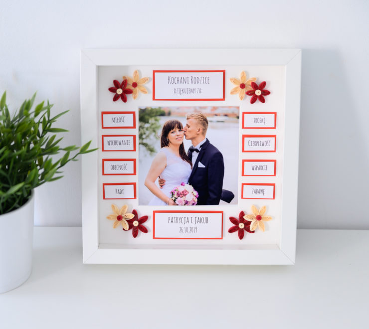 Ślubne podziękowania dla rodziców – Ramka ze zdjęciem