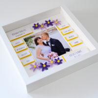 Podziękowania ślubne dla rodziców – fioletowe