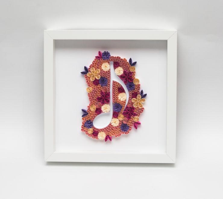 Muzyczna dekoracja mieszkania – Nuta w ramce