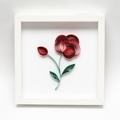Obrazek – Czerwony kwiat