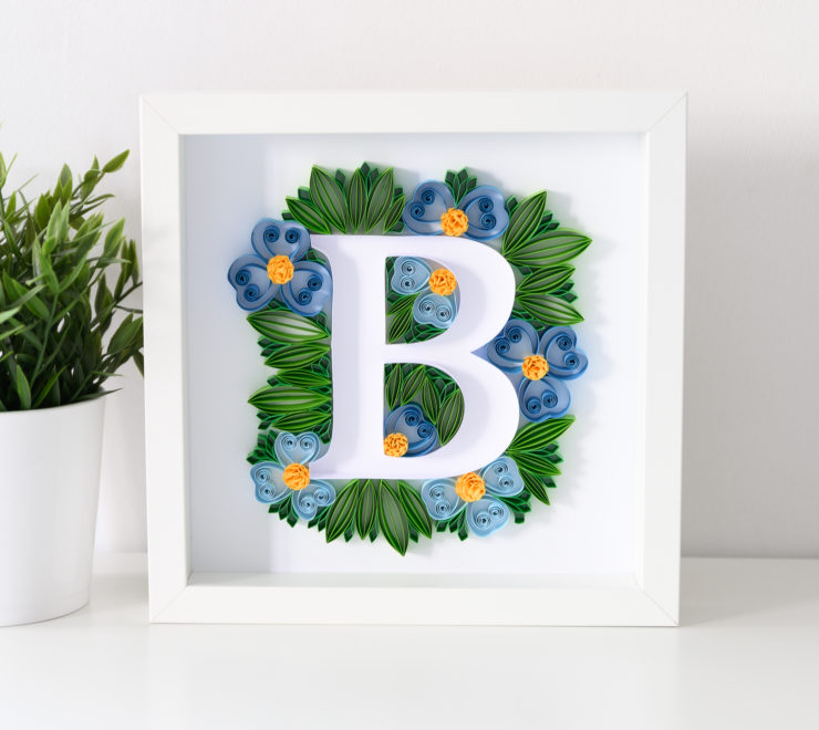 Paper Typography – Floral Letter B Wall Art