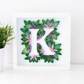 Litera K – fioletowe kwiaty