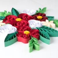 Kwiaty czerwone – Quilling konturowy