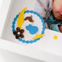 Metryczka ze zdjęciem – śpiące dziecko
