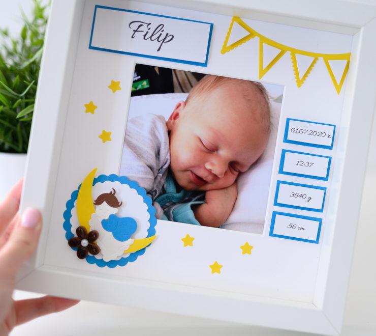 Metryczka dla dziecka ze zdjęciem – Oryginalny prezent z okazji narodzin dziecka