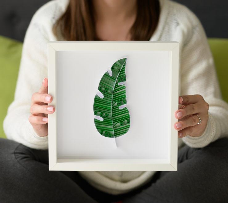Tropikalne dekoracje do domu – zielony liść bananowca