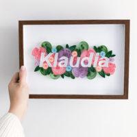 Obrazek z imieniem – pastelowy