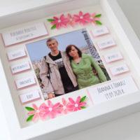 Podziękowania ślubne dla rodziców – różowe