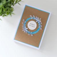 Kartka w pudełku na Chrzest – boho