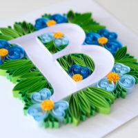 Litera B – Niebieskie kwiaty