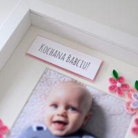Ramka na Dzień Babci – kolor różowy