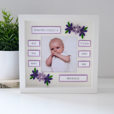 Ramka na Dzień Babci – kolor fioletowy