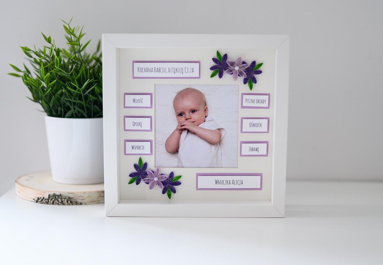 Ręcznie robiony prezent z okazji Dnia Babci – ramka ze zdjęciem
