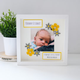 Ramka na Dzień Dziadka – kolor żółty