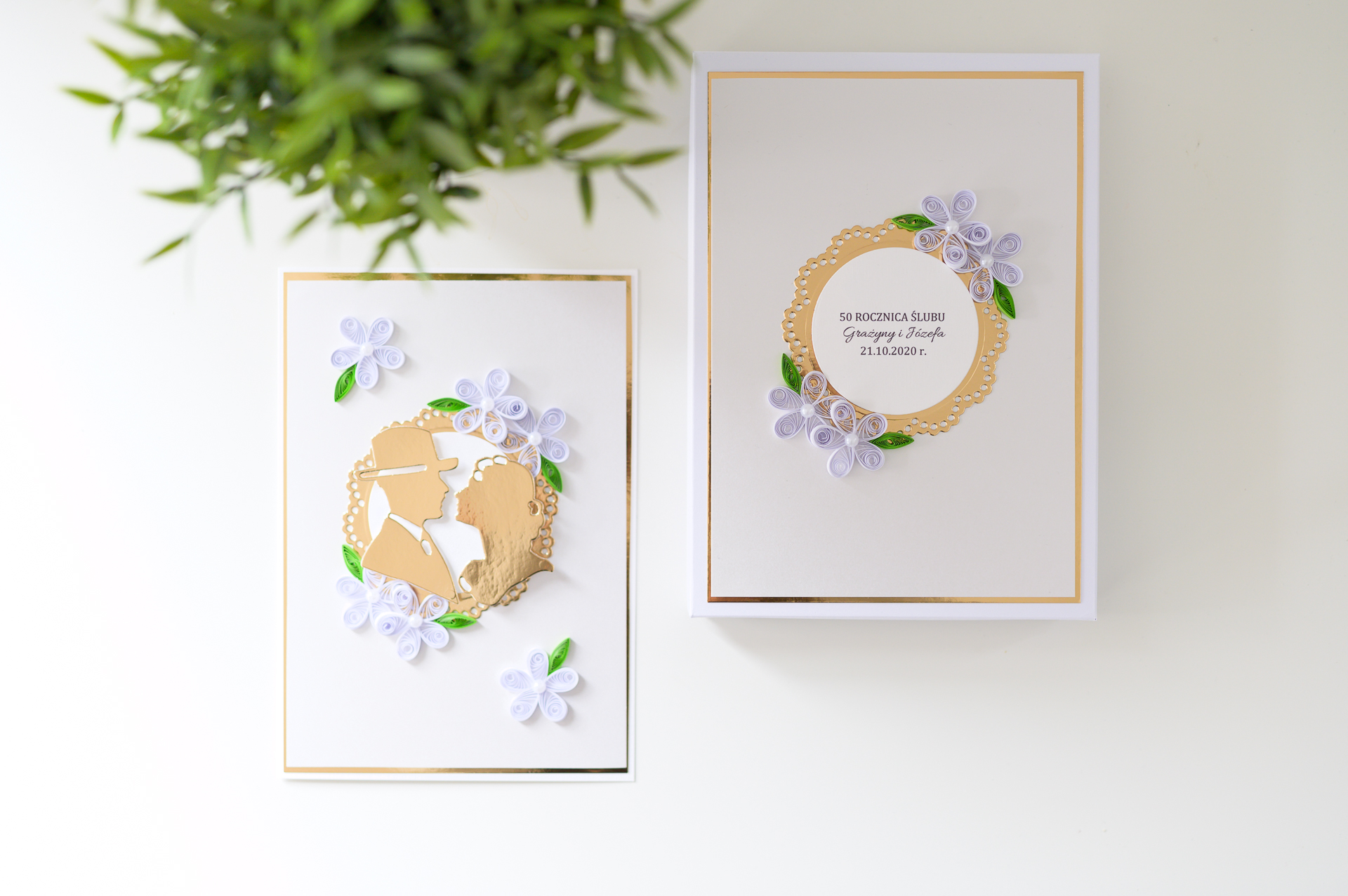 Read more about the article Handmade 50th wedding anniversary box card – Perfect golden anniversary gift