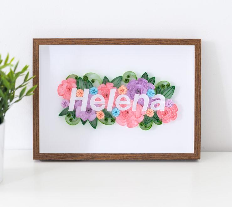 Imię dziecka na ścianę – Ręcznie robiona dekoracja do pokoju dziecięcego