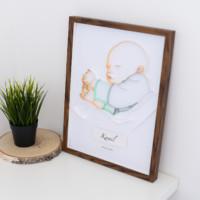 Metryczka z portretem dziecka – wersja kolorowa dla chłopca