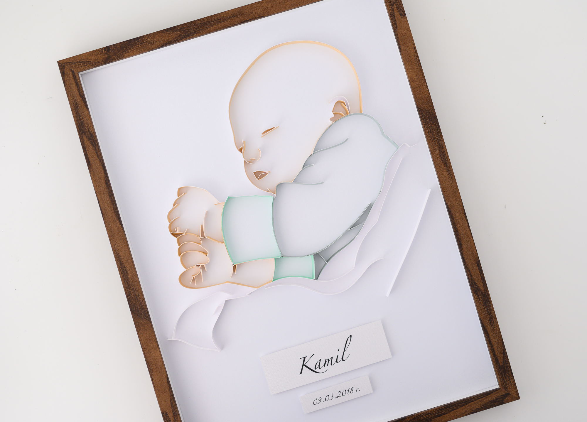 Read more about the article Paper baby portrait – Unique nursery wall art