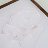 Metryczka z portretem dziecka – wersja biała dla dziewczynki